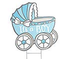 ROCK N STROLLERS BOY CARRIAGE YARD STAKE