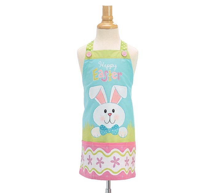 APRON CHILD SIZE HAPPY EASTER WITH BUNNY