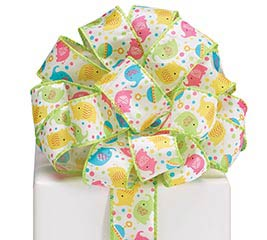 #9 ZANY ZOODLES WIRED SATIN RIBBON