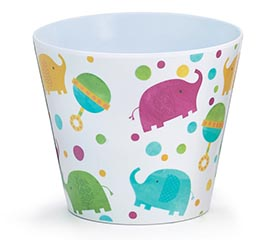 "4"" BABY ELEPHANT MELAMINE POT COVER"