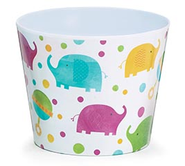 "6"" BABY ELEPHANT MELAMINE POT COVER"