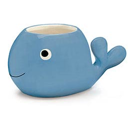 BLUE WHALE SHAPE PLANTER