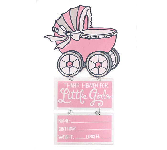 ROCK N STROLLERS BABY GIRL WALL HANGING