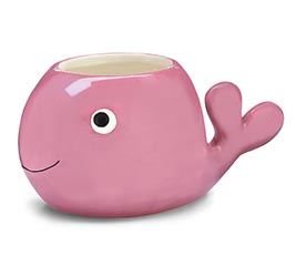 PINK WHALE SHAPE PLANTER