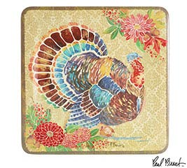 HOPEFUL HARVEST MELAMINE TURKEY PLATTER