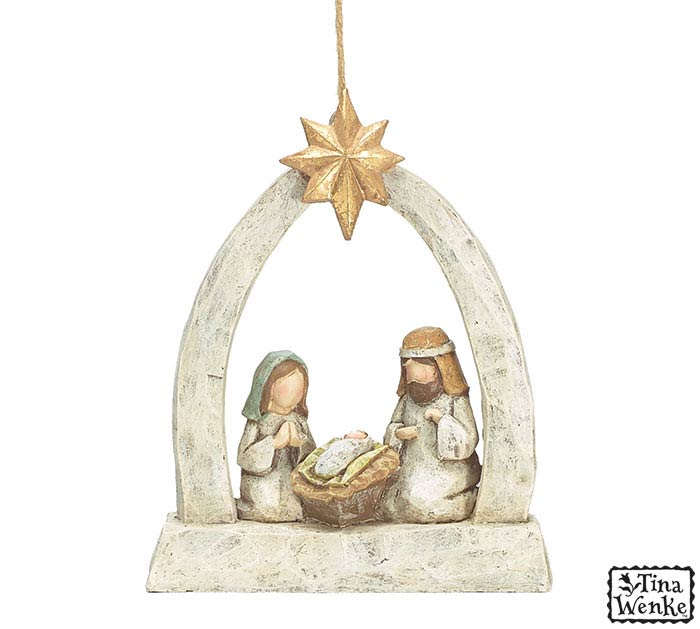 A KING IS BORN HOLY FAMILY ORNAMENT