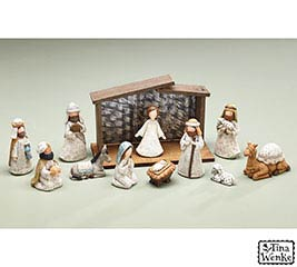 A KING IS BORN NATIVITY W/ CRECHE