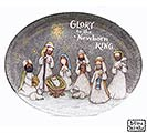 A KING IS BORN MELAMINE NATIVITY PLATTER