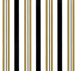 20X20 SWEET STRIPES BLACK GOLD SHEETS