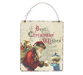 BEST CHRISTMAS WISHES WALL HANGING