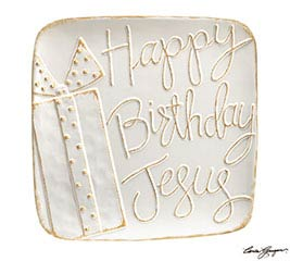 WHITER THAN SNOW HBD JESUS PLATTER