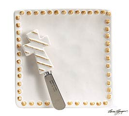 WHITER THAN SNOW PLATE WITH SPREADER SET