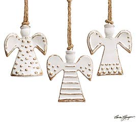 WHITER THAN SNOW ANGEL ORNAMENT SET