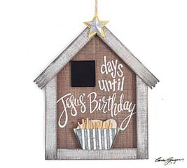 JESUS BIRTHDAY COUNTDOWN PLAQUE
