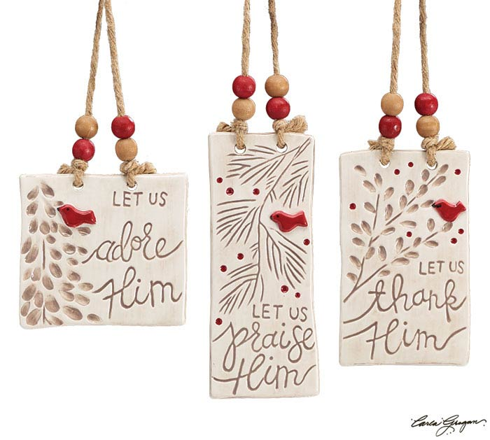 HEAVEN/NATURE SING CARDINAL ORNAMENT SET