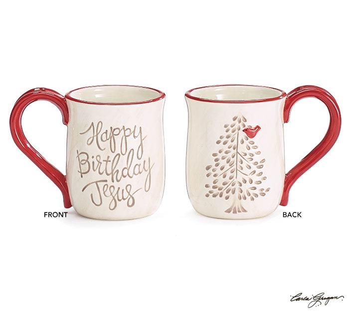 HEAVEN AND NATURE SING HBD JESUS MUG
