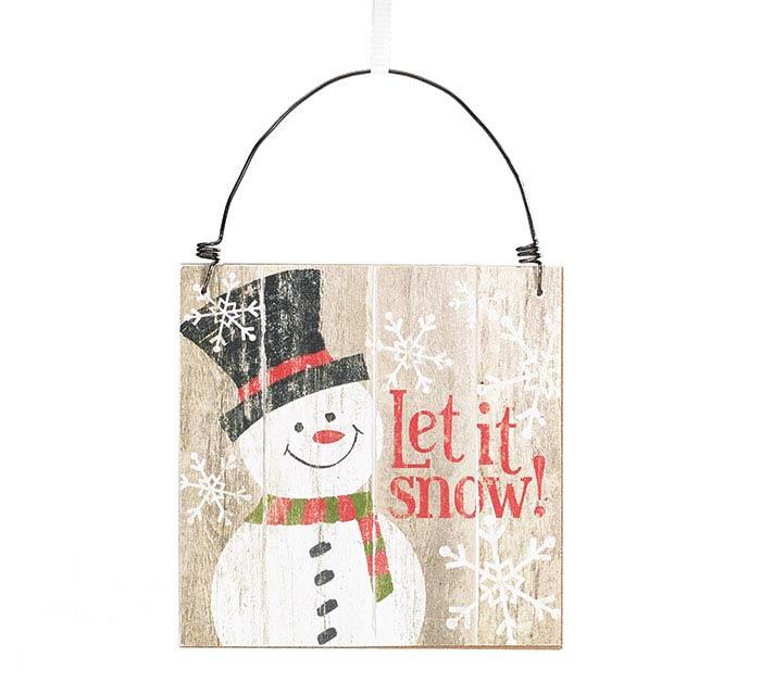 HANDMADE HOLIDAY SNOWMAN ORNAMENT