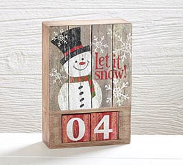 HANDMADE HOLIDAY COUNTDOWN SHELF SITTER