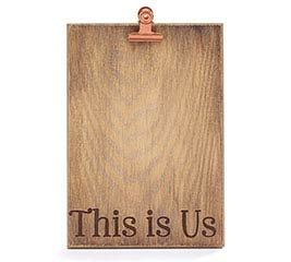 WORDY WOOD NATURAL PICTURE HOLDER
