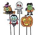 "12"" GIDDY GHOULS HALLOWEEN PICK SET"
