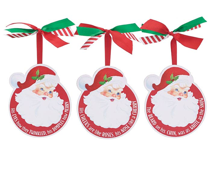 SANTA SEASON CHRISTMAS ORNAMENT SET