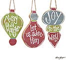 SEASONS OF GLORY CHRISTMAS ORNAMENT SET