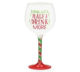 NORTH POLE PARTY WINE GLASS