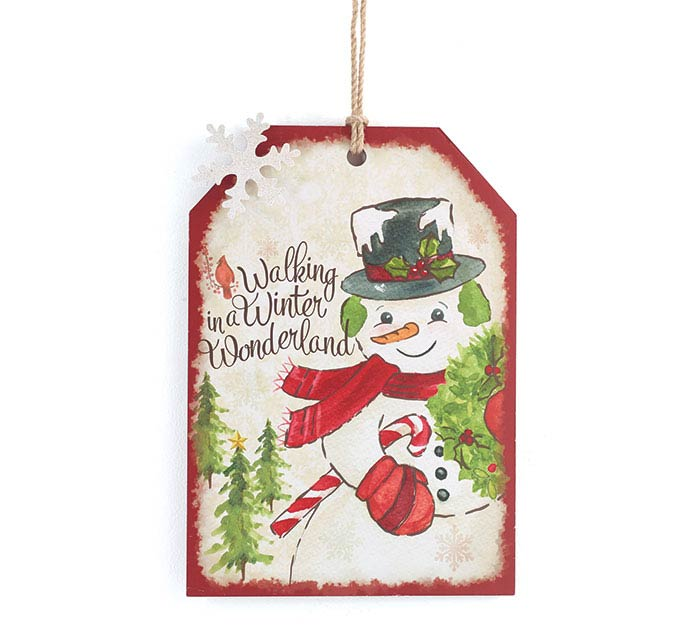 YULETIDE TRADITIONS SNOWMAN WALL HANGING