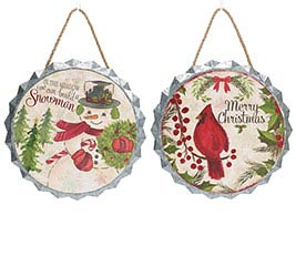 YULETIDE TRADITIONS BOTTLE CAP ORNAMENT