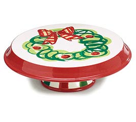 2 IN 1 CHRISTMAS CHIP/DIP AND CAKE PLATE