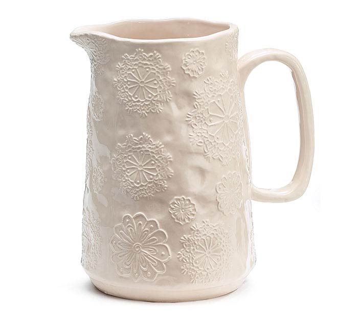 SNOWFLAKE SEASON CERAMIC PITCHER