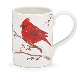 WINTER'S BLESSINGS MUG WITH CARDINALS