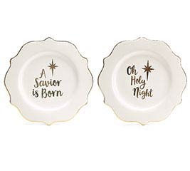 HOLIDAY GOLD HOLY MESSAGES PLATE SET