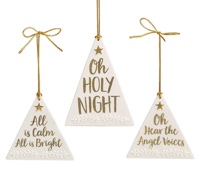 HOLIDAY GOLD HOLY MESSAGES ORNAMENT SET