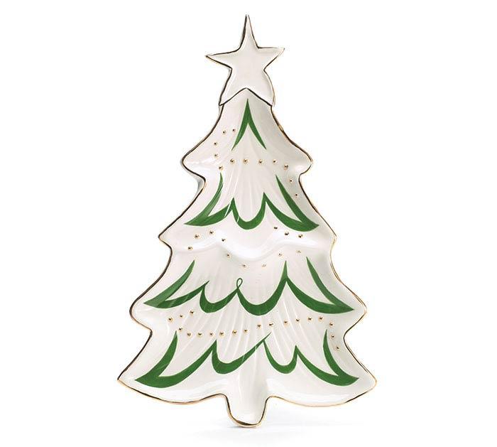 SHINING STAR CHRISTMAS TREE SHAPED PLATE
