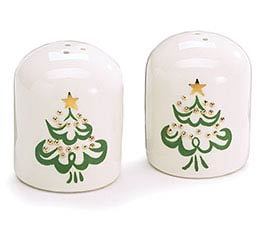 SHINING STAR CHRISTMAS TREE SALT/PEPPER