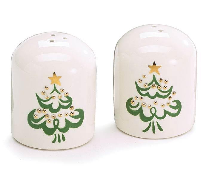 SHINING STAR CHRISTMAS TREE SALT/PEPPER