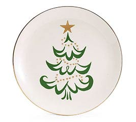 SHINING STAR CHRISTMAS TREE PLATE