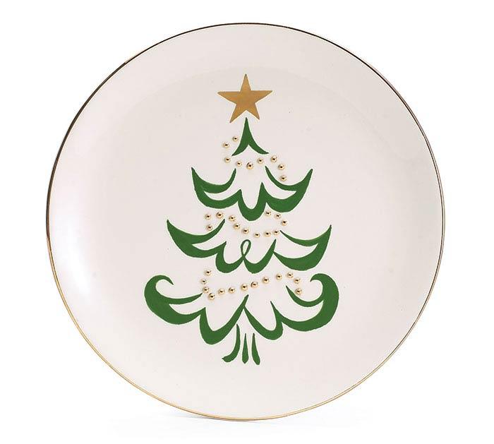 SHINING STAR CHRISTMAS TREE PLATE