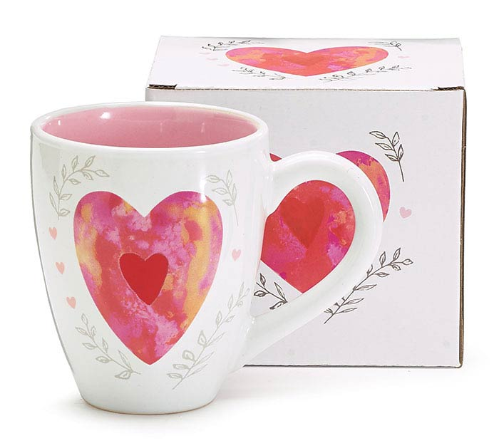 MON AMOUR HEART VALENTINE MUG