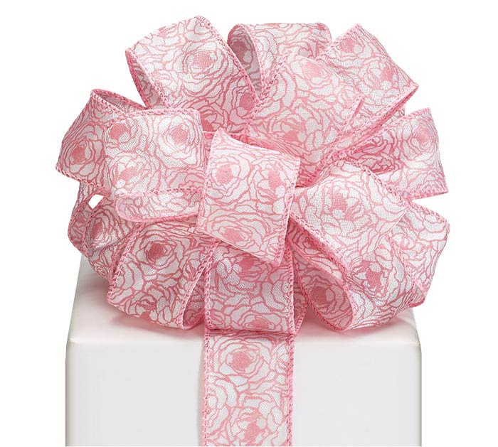 #9 PRECIOUS PEONIES WIRED RIBBON