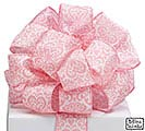 #9 TIMELESS ROMANCE PINK WIRED RIBBON