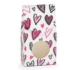 PINK/WHITE HERTS VALENTINE CANDY BOX
