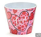"4"" LOVE N' HEARTS MELAMINE POT COVER"