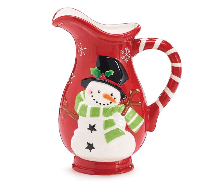 WINTER'S FROST CERAMIC PITCHER