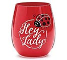 HEY LADY LADYBUG STEMLESS WINE GLASS
