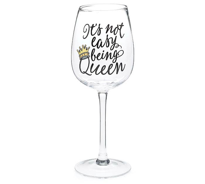 BEE BUZZED WINE GLASS