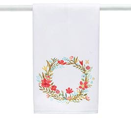 JOIE DE VIVRE WREATH TEA TOWEL