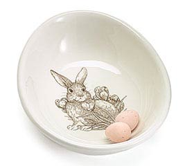 NATURAL SPRING BUNNY CERAMIC CANDY DISH