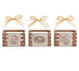 SAVANNAH SPRING WOOD CRATE SET